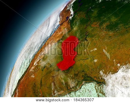 Paraguay From Orbit Of Model Earth
