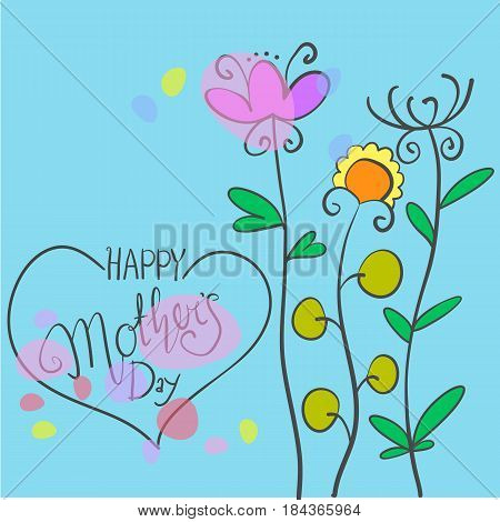 Happy mother day illustration vector collection stock