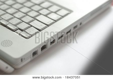 Laptop - detail of the keyboard