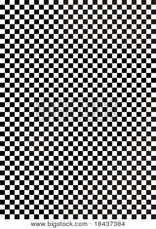 Black and white chequered