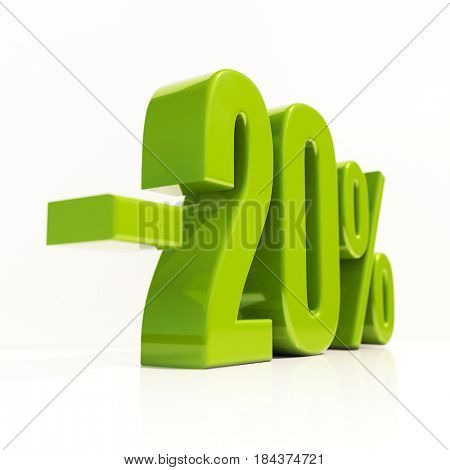 3d render: Percent Discount Sign, Sale Up to 20%