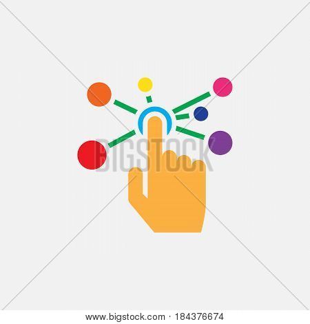 Interactive Interface Solid Icon, Color Vector Illustration, Pictogram Isolated On White
