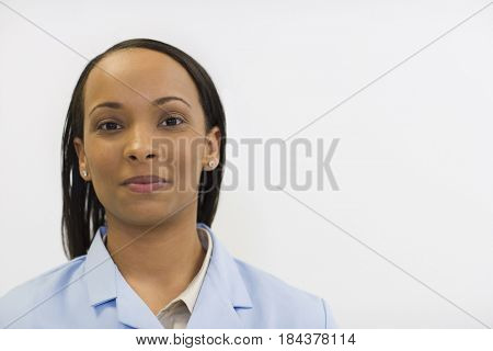 Smiling Black technician