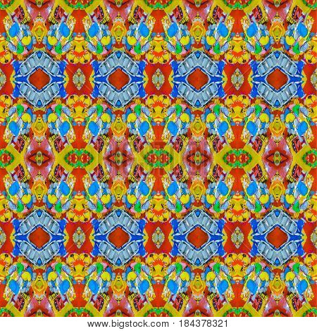 Multicolor Modern Collage Seamless Pattern