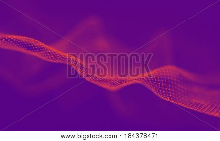 Abstract Purple Geometrical Background . Connection structure. Science background. Futuristic Technology HUD Element . onnecting dots and lines . Big data visualization and Business .