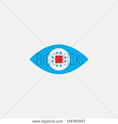 Cyber Eye Solid Icon, Ocular Color Chip Vector Illustration, Pictogram Isolated On White