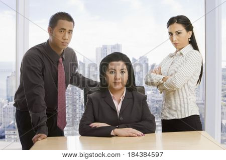 Business people posing in office