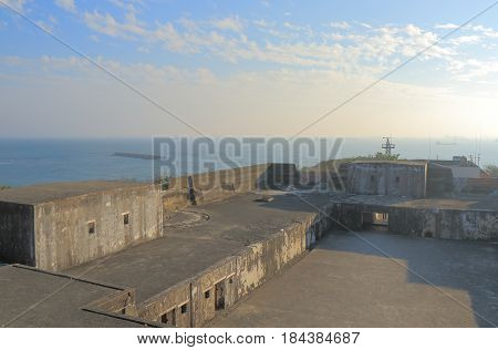 Cihou Fort in Kaohsiung Taiwan. Cihou Fort is a historic fort in Cijin District built in 1720.