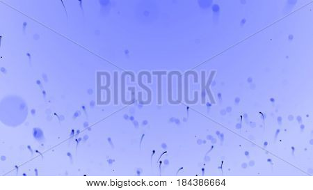 Medical illustration of sperm and egg cell on abstract scientific Background. 3D render. Life and biology medicine scientific molecular research dna