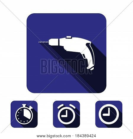 drill icon stock vector illustration flat design style