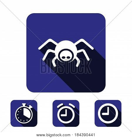 spider icon stock vector illustration flat design