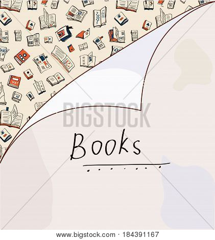 Book background with paper texture - vector graphic illustration