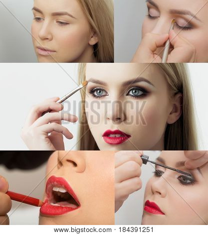 Beauty And Fashion, Makeup And Visage, Step By Step Lesson