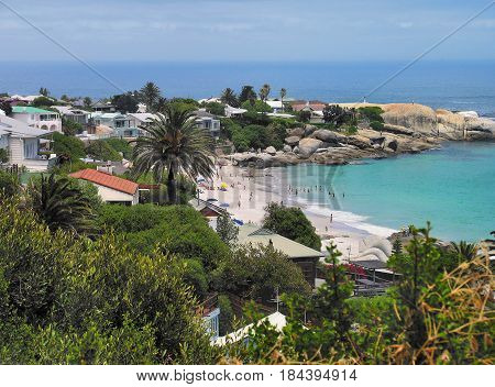 VIEW OF CLIFTON BEACH, CAPE TOWN SOUTH AFRICA