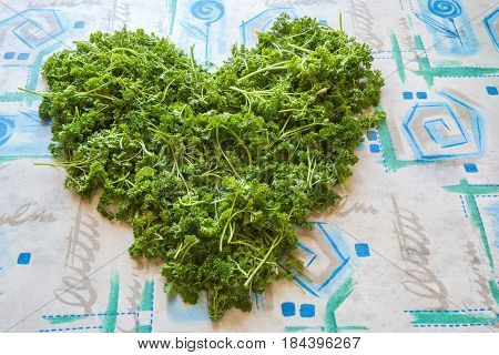 Heart Symbol, Made From Greenery