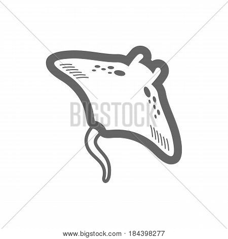 Ramp fish outline vector icon. Beach. Summer. Summertime. Holiday. Vacation eps 10