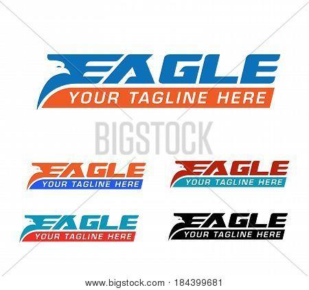 eagle express logo design concept. Fully editable vector Illustration.