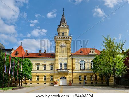 Kikinda town Serbia city hall landmark architecture