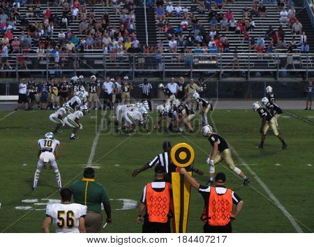 Myrtle Beach High School vs Socastee High School football game, Myrtle Beach, South Carolina, September 11th, 2015