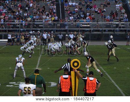 Myrtle Beach High School vs Socastee High School football game, Myrtle Beach, South Carolina, September 11th, 2015