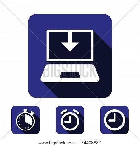 laptop icon stock vector illustration stock vector illustration flat design