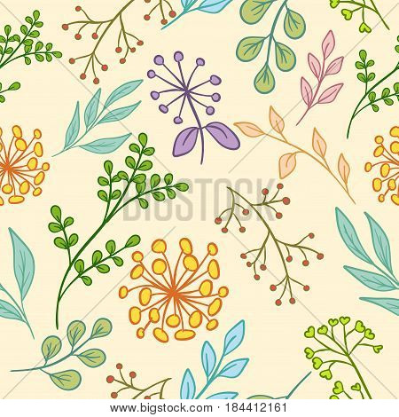 Floral Pattern Color Seamless
