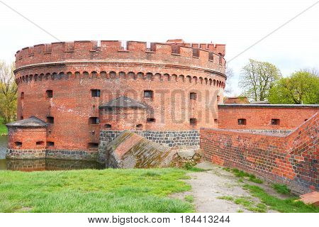 Fortification Bastion Tower Der Dohna Turm. Amber Museum. Kaliningrad, Russia. Konigsberg East Pruss