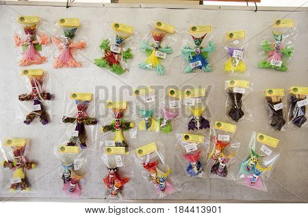 Small Local Shop Sale Souvenir And Native Product Phi Ta Khon For People And Travellers At Phi Ta Kh