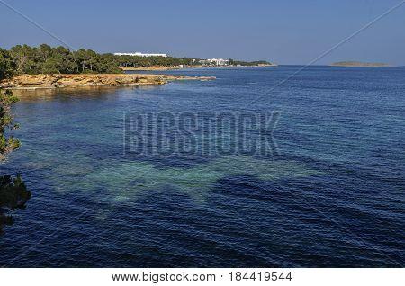 floodplain sea off the coast of ibiza