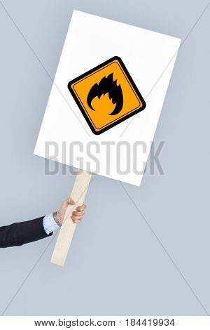Flammable Sign Caution Warning Sign Symbol
