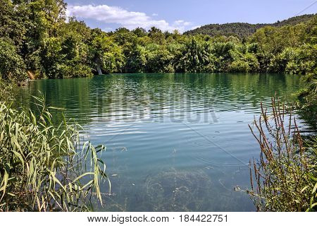 Krka National park lake, natural landscape, Croatia