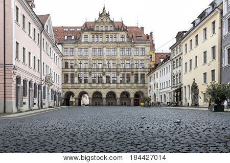 Historic town hall in the town of Goerlitz, East Germany
