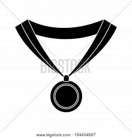 medal award win sport image silhouette vector illustration