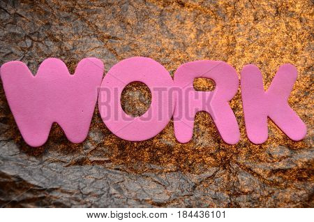 word work on a  abstract col.orful background