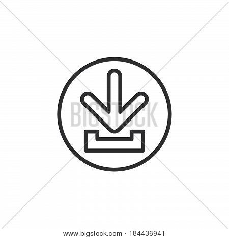 Download circular line icon. Round simple sign. Flat style vector symbol