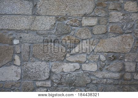 Natural stone wall of a Portuguese solares