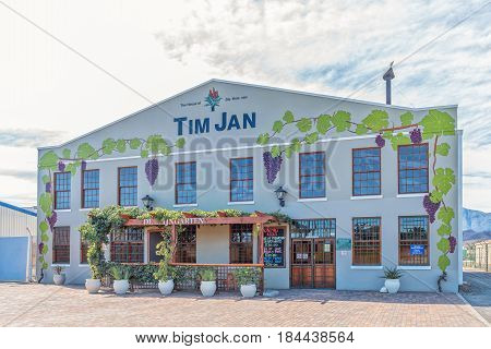 BONNIEVALE SOUTH AFRICA - MARCH 26 2017: The home of Tim Jan a drink consisting of pure Aloe Ferox juice and a natural preservative in the form of fermented grape juice