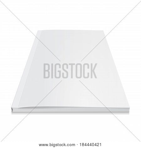 Blank Cover Of Magazine, Book, Booklet, Brochure. Illustration Isolated On White Background. Mock Up Template Ready For Your Design. Vector EPS10