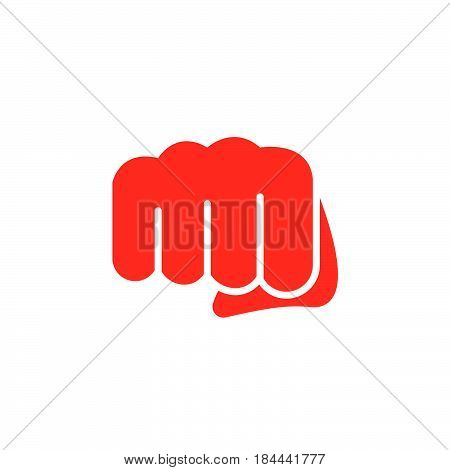 Fist forward punch icon vector filled flat sign solid colorful pictogram isolated on white. Symbol logo illustration