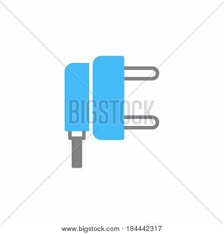 AC power plug icon vector filled flat sign solid colorful pictogram isolated on white. Symbol logo illustration
