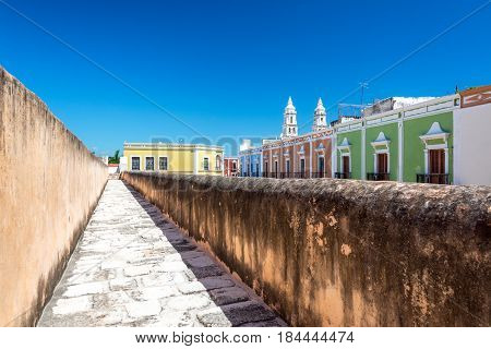 Campeche Wall And City View