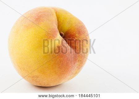 Peach (Prunus persica) isolated in white background