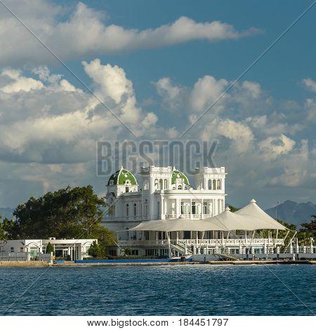 Waterside scenery around Cienfuegos in Cuba a island in the Caribbean Sea.