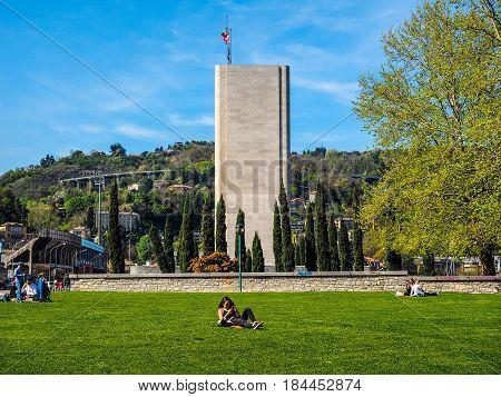 Monumento Ai Caduti War Memorial In Como (hdr)