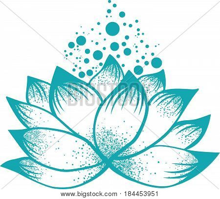 Illustration of Abstract Design of Lilly Lotus Flower