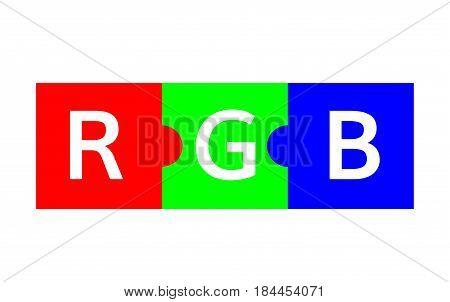 RGB color  scheme  puzzle illustration vector rgb graphic mode
