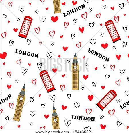Heart-rain-london-big-ben-pattern-2
