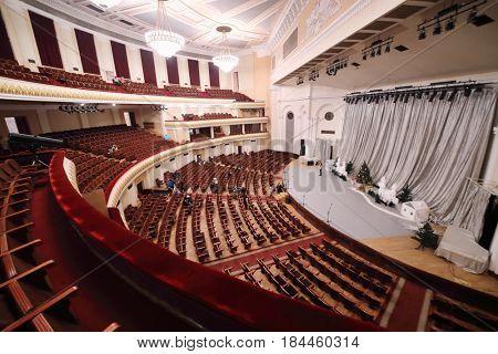 YEREVAN, ARMENIA - JAN 4, 2017: Armenian Academic Opera and Ballet Theater named Spendiarov, building in 1940