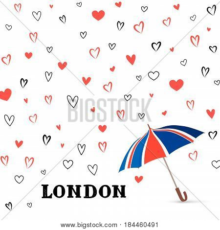 London vacation wallpaper. Love english weather background. Travel GB pattern.
