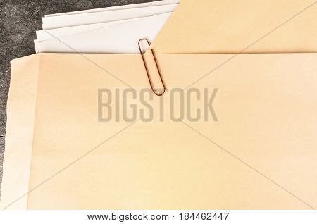 Classified Brown Folder File With Paper